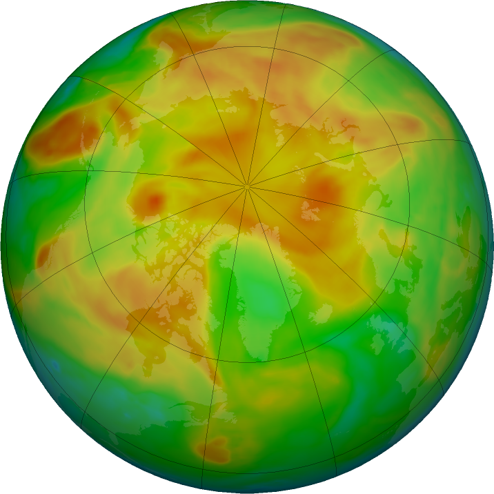 Arctic ozone map for 25 May 2019