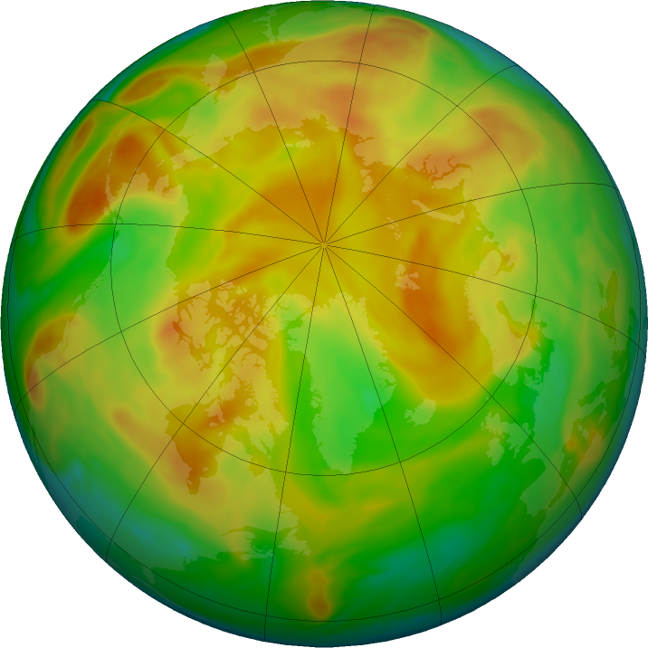 Arctic ozone map for 26 May 2019