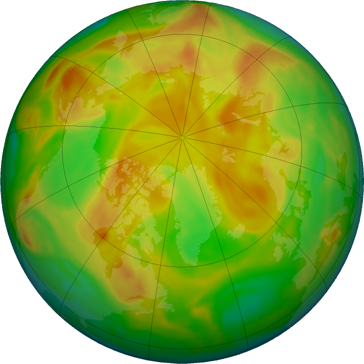 Arctic ozone map for 27 May 2019