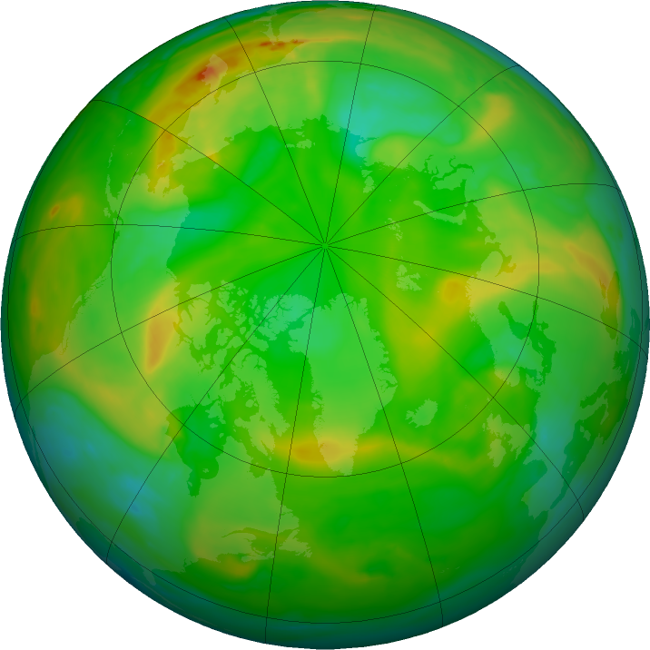Arctic ozone map for 30 June 2019