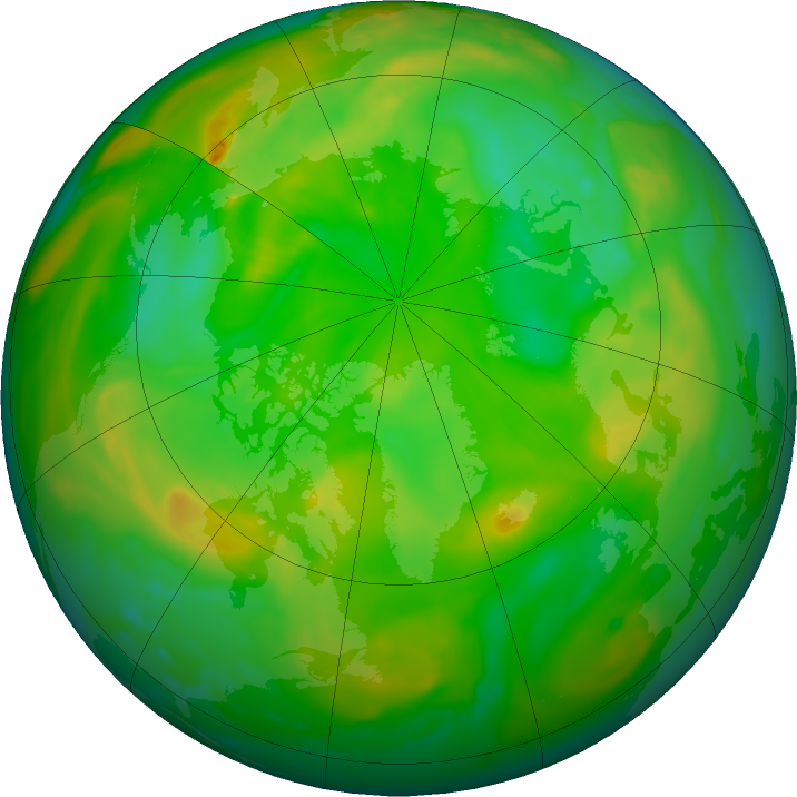 Arctic ozone map for 04 July 2019
