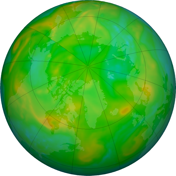Arctic ozone map for 05 July 2019