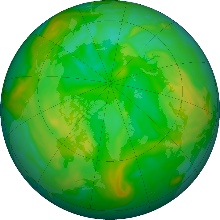 Arctic ozone map for 12 July 2019