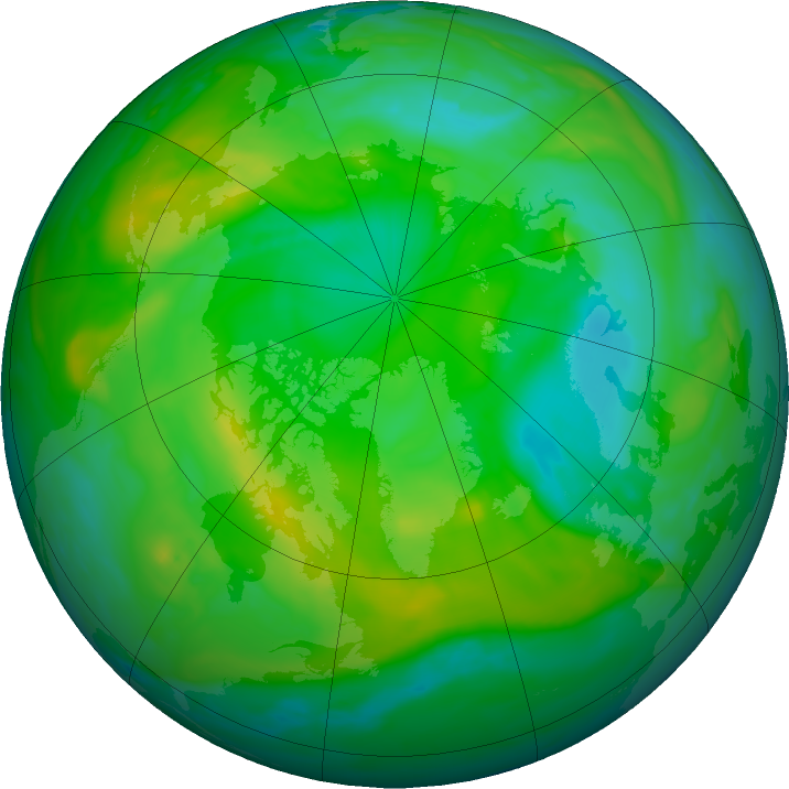 Arctic ozone map for 26 July 2019