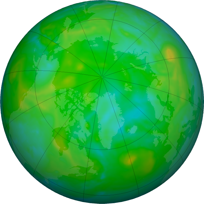 Arctic ozone map for 02 August 2019