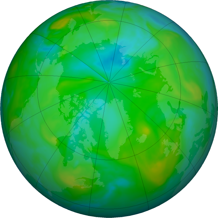 Arctic ozone map for 10 August 2019