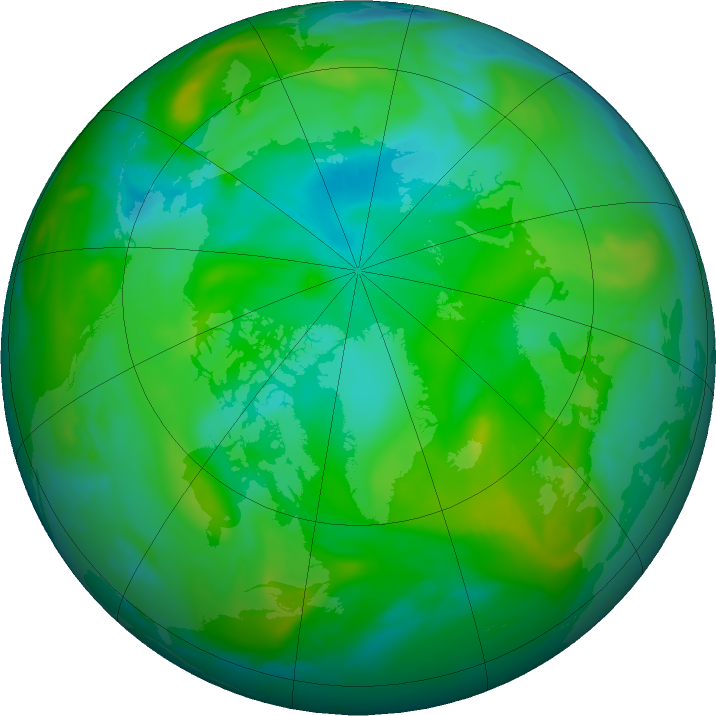 Arctic ozone map for 11 August 2019