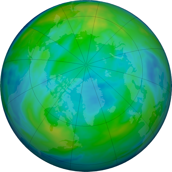 Arctic ozone map for 06 November 2019