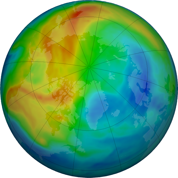 Arctic ozone map for 27 November 2019