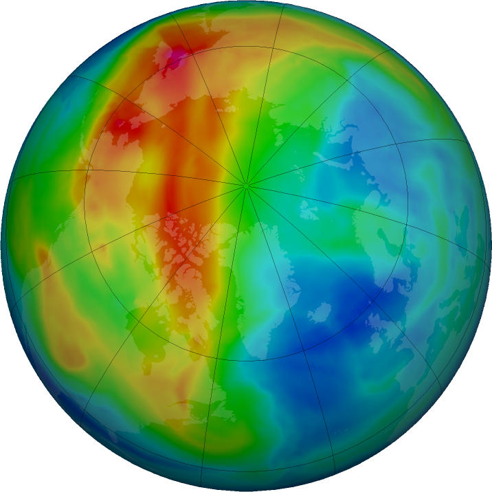 Arctic ozone map for 30 November 2019