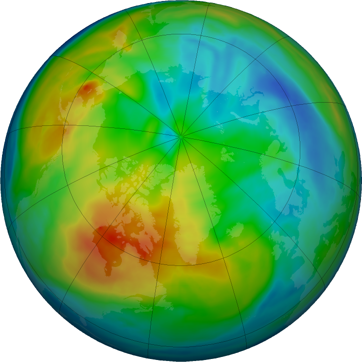 Arctic ozone map for 10 December 2019