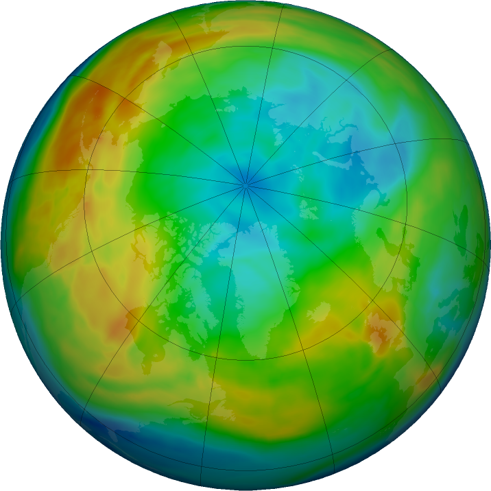 Arctic ozone map for 17 December 2019