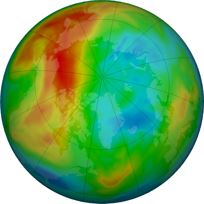 Arctic ozone map for 27 December 2019