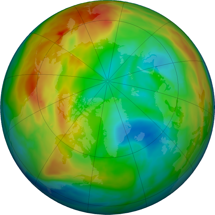 Arctic ozone map for 04 January 2020
