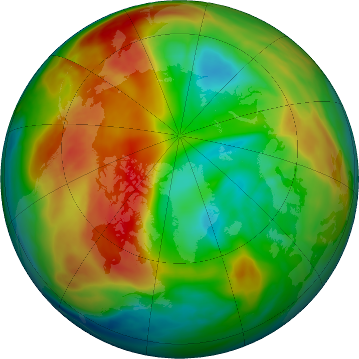 Arctic ozone map for 07 February 2020