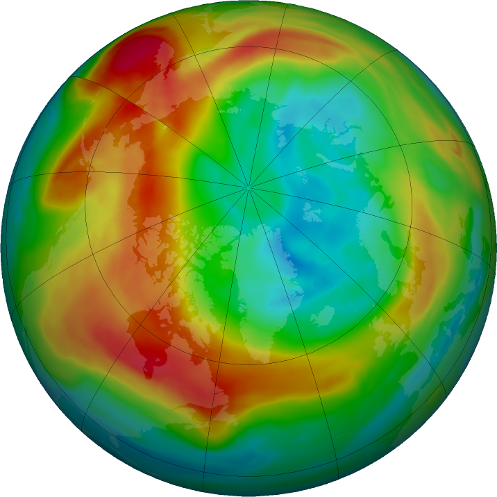 Arctic ozone map for 12 February 2020
