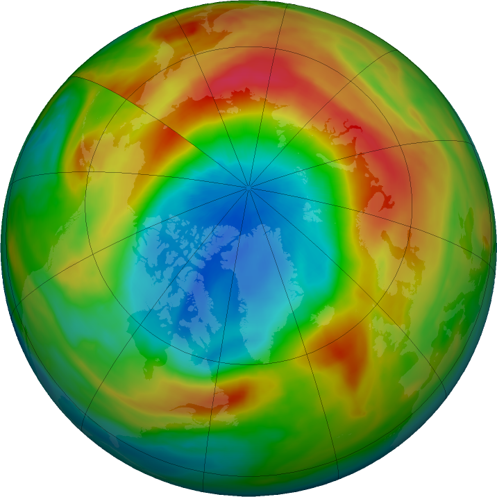 Arctic ozone map for 21 March 2020