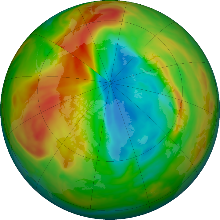 Arctic ozone map for 03 April 2020