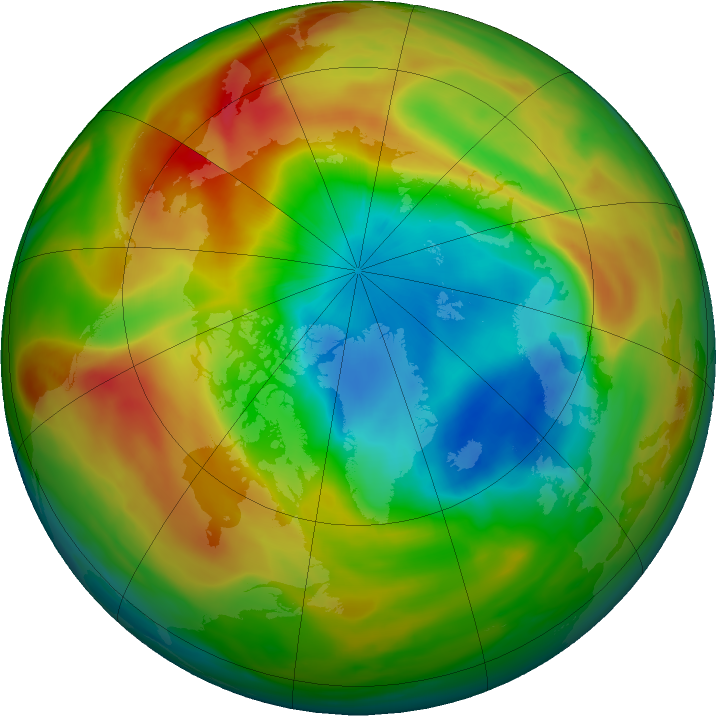 Arctic ozone map for 05 April 2020