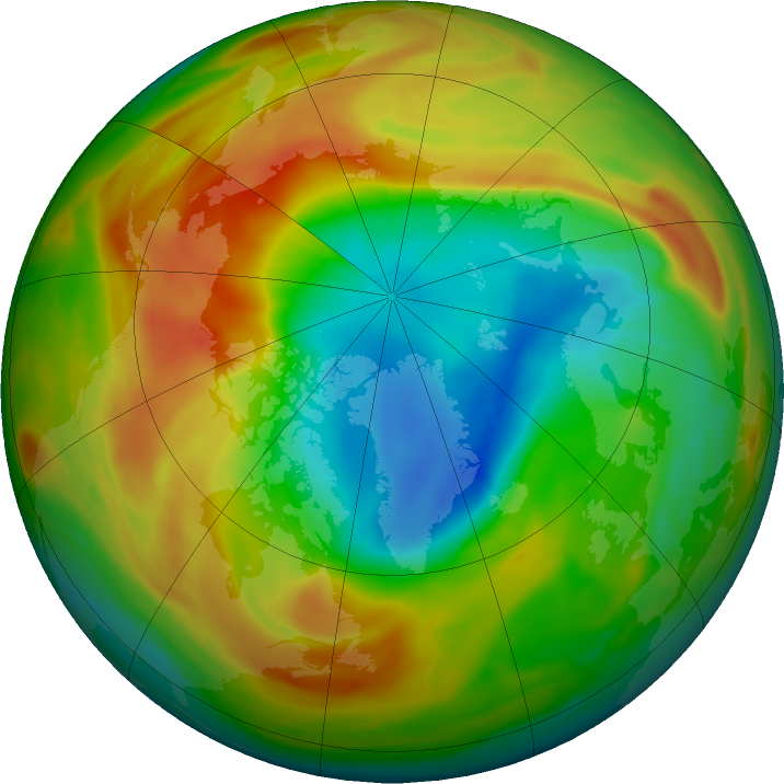 Arctic ozone map for 07 April 2020