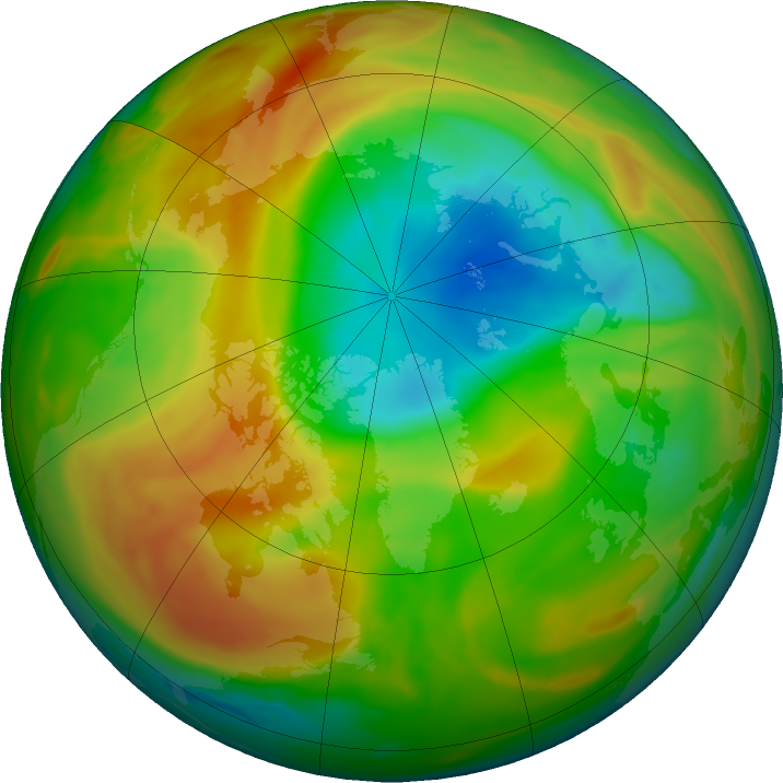 Arctic ozone map for 15 April 2020