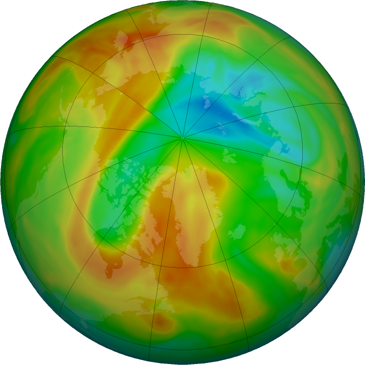 Arctic ozone map for 19 April 2020