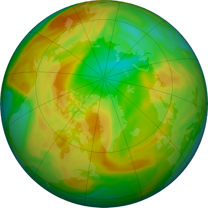 Arctic ozone map for 28 April 2020