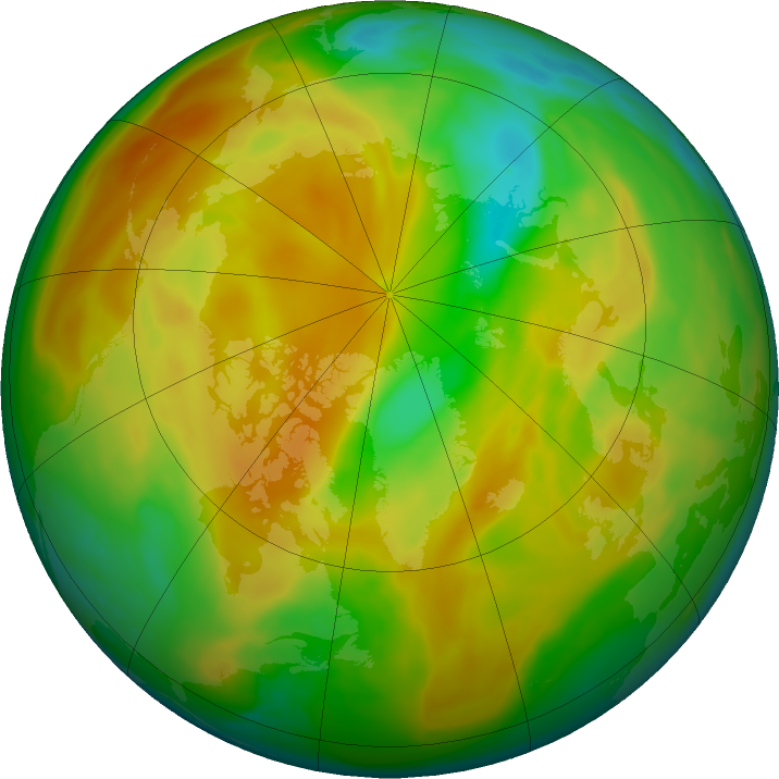 Arctic ozone map for 01 May 2020