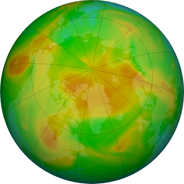 Arctic ozone map for 07 May 2020