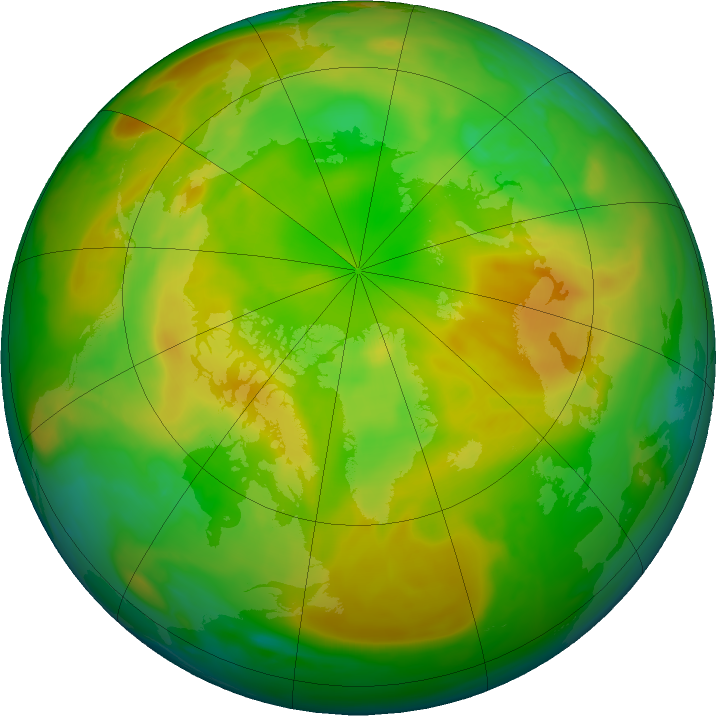 Arctic ozone map for 19 May 2020