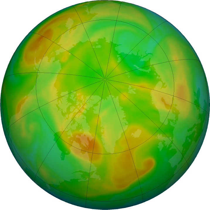 Arctic ozone map for 21 May 2020