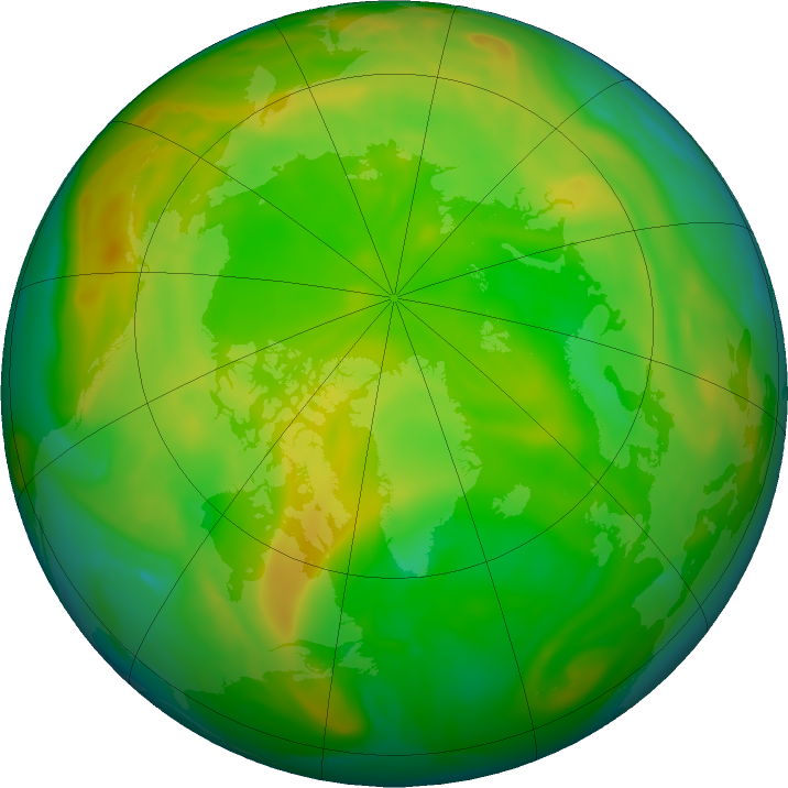 Arctic ozone map for 02 June 2020