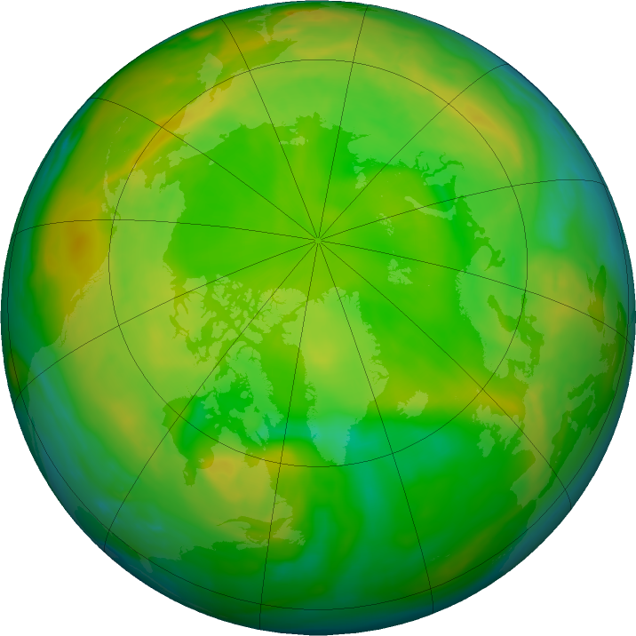 Arctic ozone map for 04 June 2020