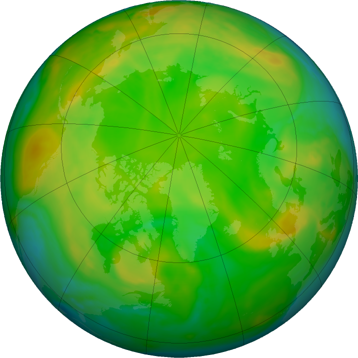 Arctic ozone map for 05 June 2020