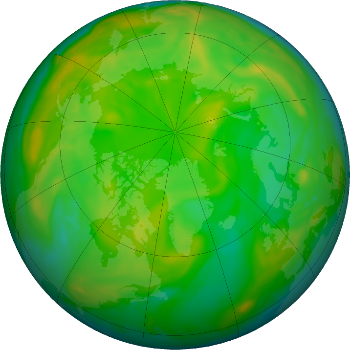 Arctic ozone map for 14 June 2020