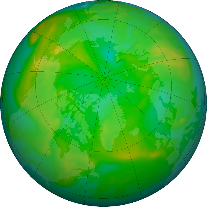 Arctic ozone map for 26 June 2020