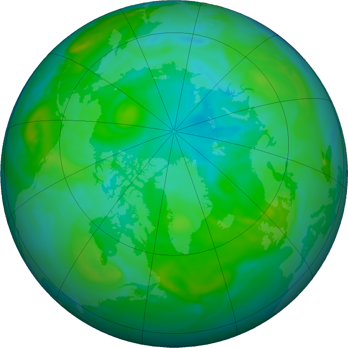 Arctic ozone map for 28 July 2020