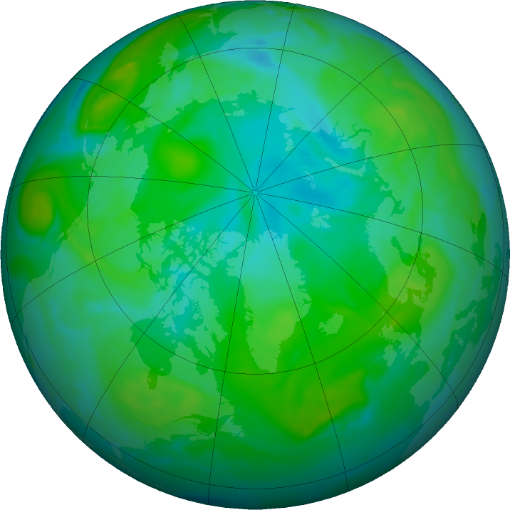 Arctic ozone map for 29 July 2020