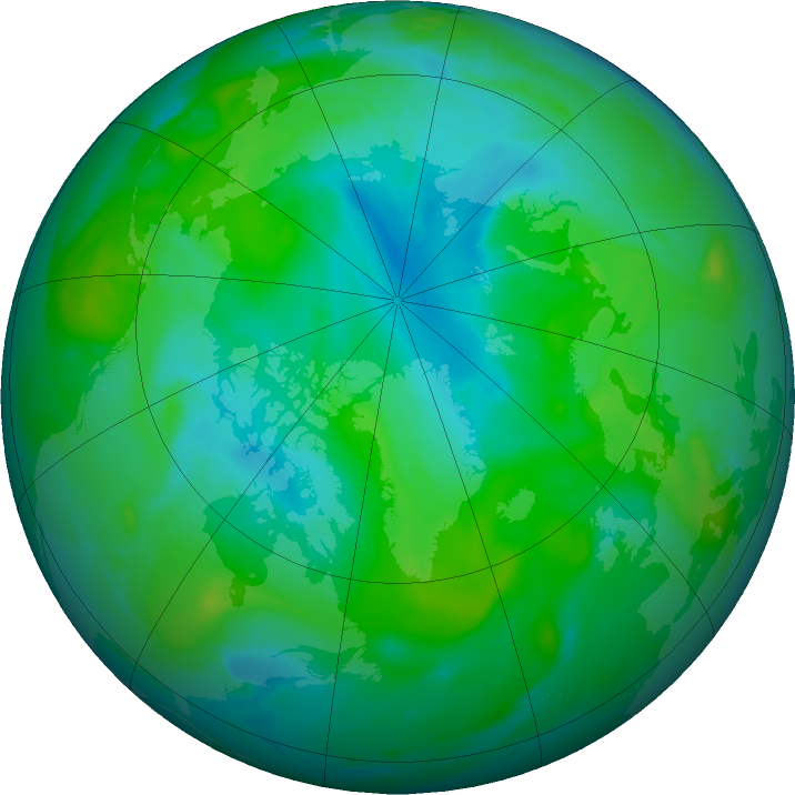 Arctic ozone map for 04 August 2020