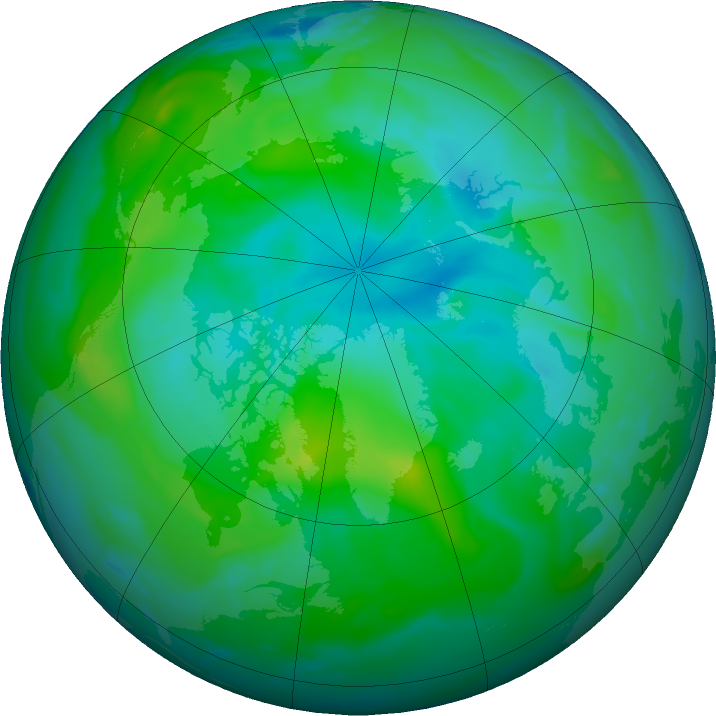 Arctic ozone map for 11 August 2020