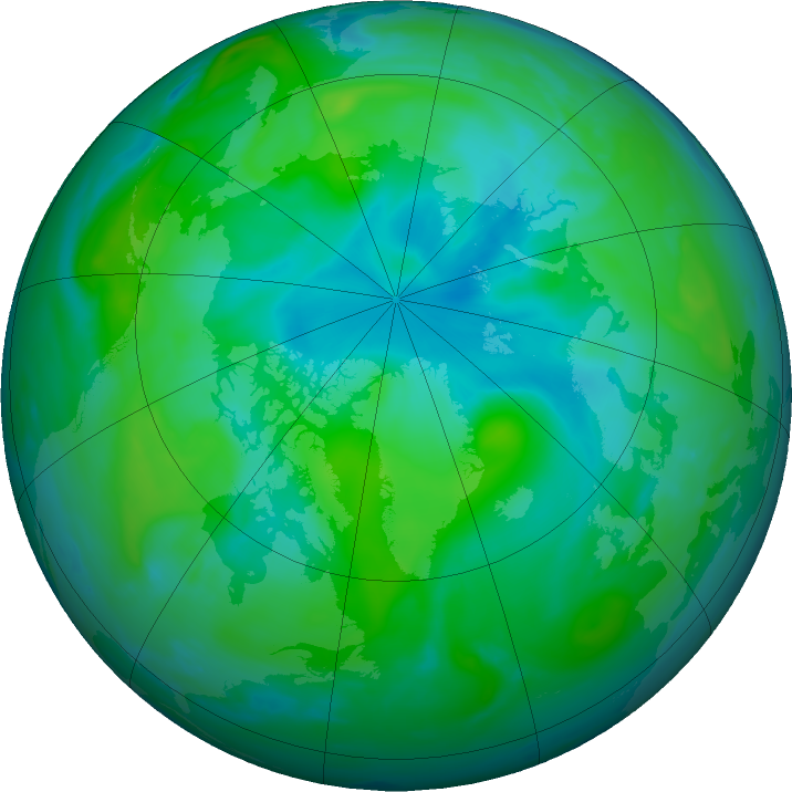 Arctic ozone map for 14 August 2020