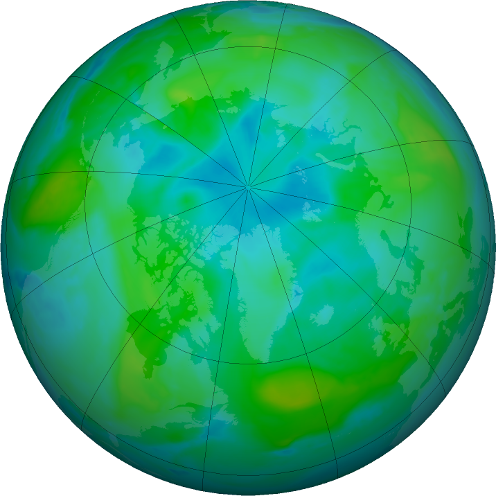 Arctic ozone map for 17 August 2020