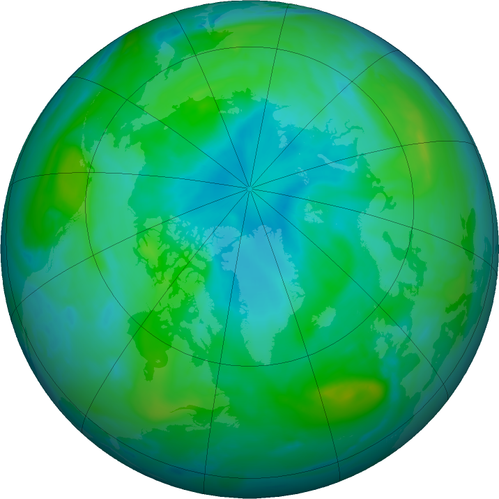 Arctic ozone map for 19 August 2020