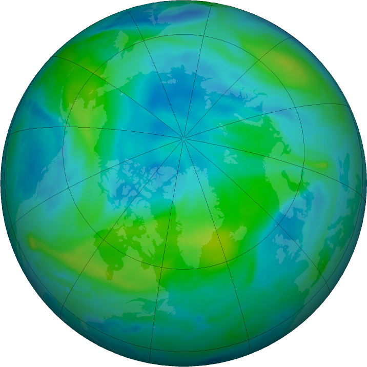Arctic ozone map for 08 September 2020
