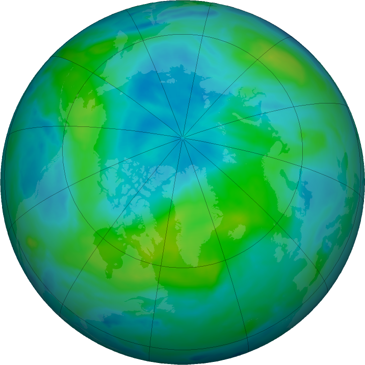 Arctic ozone map for 09 September 2020