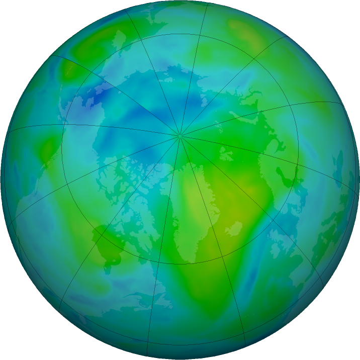 Arctic ozone map for 13 September 2020