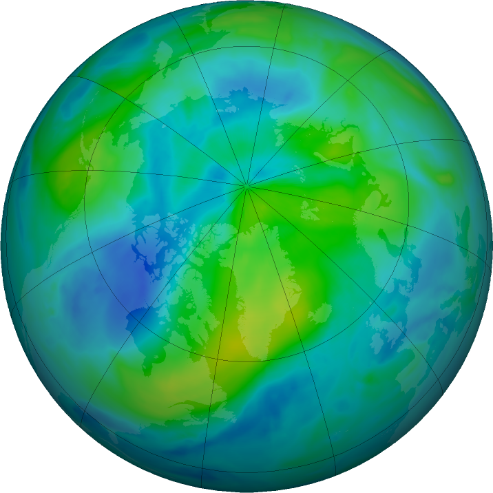 Arctic ozone map for 19 September 2020