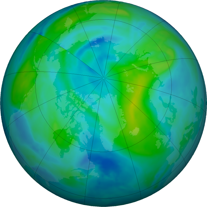 Arctic ozone map for 23 September 2020