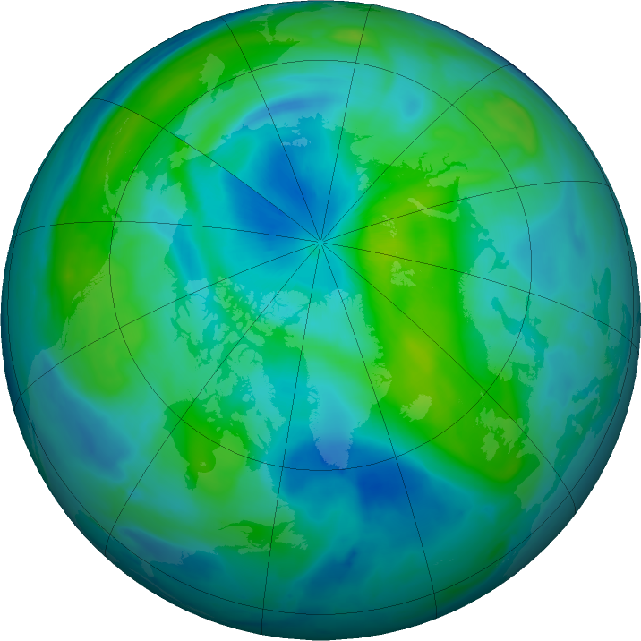 Arctic ozone map for 24 September 2020