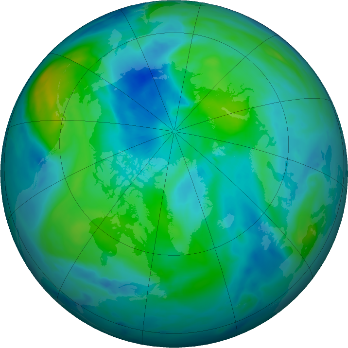 Arctic ozone map for 27 September 2020